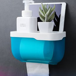$enCountryForm.capitalKeyWord Australia - Bathroom Waterproof Tissue Box Plastic Bath Toilet Paper Holder Wall Mounted Paper Storage Box Double Layer Napkin Dispenser