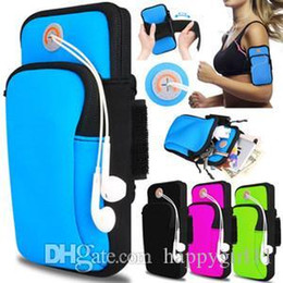 Cell Phone Armband Jogging Australia - factory price Happy Gym Running Jogging Sports Wallet Pouch Waterproof Armband Case For Cell Phone Outdoor Arm Bag