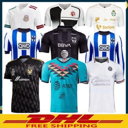 jersey soccer club Canada - DHL Free shipping 2019 2020 LIGA MX Club America soccer Jersey 19 20 Chivas Tigres Club Santos Tijuana soccer Jersey Size can be mixed batch