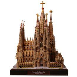 Diy sagrada familia, espanha artesanato modelo de papel de arquitetura 3d diy educação brinquedos artesanais adulto jogo de puzzle y190530 venda por atacado