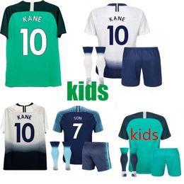 2018 2019 para jérsei tottenham crianças kits LAMELA ERIKSEN DELE FILHO KANE Camisas De Futebol camisas de futebol em casa awya terceiro homem uniformes de futebol venda por atacado