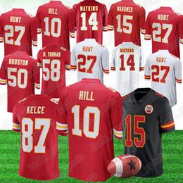 b51f156698d Chiefs Football Canada - Kansas City 10 Tyreek Hill Chief jersey 15 Patrick  Mahomes 87 Travis