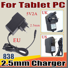 Wholesale 838 5V 2A DC 2.5mm Plug Converter Wall Charger Power Supply Adapter for A13 A23 A33 A31S A64 7 9 10 inch Tablet PC EU US UK plug A-PD