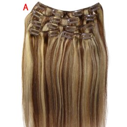 $enCountryForm.capitalKeyWord Australia - 20 inch Clip Womens Wigs In Remy Real Human Hair Extensions Full Head Charming Hair High Density Temperature Synthetic Wig Women