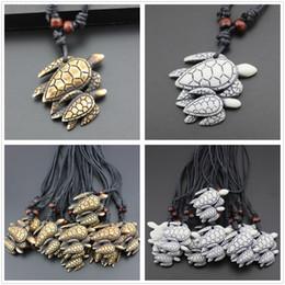 $enCountryForm.capitalKeyWord Australia - Creative Tribal Resin Double Turtles Choker Pendant Necklace Charm Jewelry Black Rope Gift Decor Free Shipping