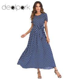 Red White Polka Dot Shorts Australia - Vintage Polka Dot Women Maxi Long Elegant Lady Summer 2019 Short Sleeve High Waist A-line Dress Plus Size 5xl J190505
