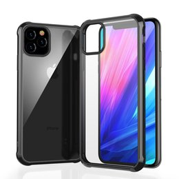iphone hard box case Australia - Hard PC Clear Phone Case for iPhone 6 6S 7 8 Plus X XS XR iPhone 11 Pro Max 2019 Shockproof Protection TPU Frame Cover with LEEU DESIGN Box