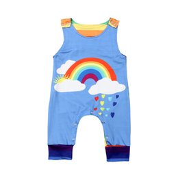 $enCountryForm.capitalKeyWord UK - Brand Cute Toddler Baby Boys Clothes Sleeveless Rainbow Jumpsuit Striped Back Rompers Overall Outfit Summer Cotton Clothes