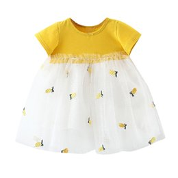 04b01628550 Toddler Baby girls dresses summer Newborn Kids Embroidery Tulle Patchwork  Tutu Princess Kawaii Party Dress vestido infantil