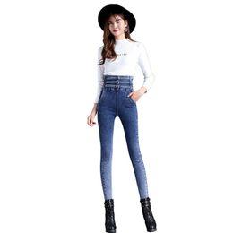 $enCountryForm.capitalKeyWord Australia - High Waist Skinny Fashion Jeans For Women 2018 Autumn New Girls Elastic Slim Denim Cowboy Pencil Pants Plus Size Women T3190613