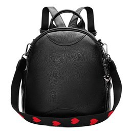 Backpacks Women's Bags Womens New British Top Layer Leather Double Zipper Shoulder Bag Leather Large Capacity Wild Travel Soft Leather Backpack