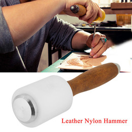 Leather stamp tooLs online shopping - Strengthen Wooden Handle Leathercraft Carving Hammer Leather Craft Cutting Stamping Tool for Handmade Craft Punch Tools