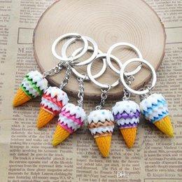 $enCountryForm.capitalKeyWord Australia - Cute key rings Creative resin simulation food key rings ice cream pendant key rings free shipping