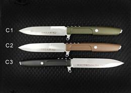 $enCountryForm.capitalKeyWord Australia - OEM Extrema Ratio Survival Straight Knife D2 Stone Wash Blade Nylon Plus Glass Fiber Handle With ABS K Sheath