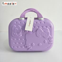 ca8517f4f Hello Kitty Cosmetic Case Bag Travel Suitcase Portable Handbag makeup box