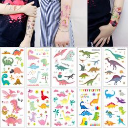 $enCountryForm.capitalKeyWord Australia - Cartoon Jurassic Dinosaur Temporary Tattoo for Kid Baby Face Arm Hands Neck Leg Body Art Design Lovely Fake Small Animal Tattoo Sticker Gift