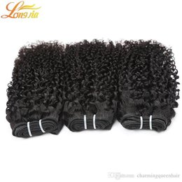 quality afro hair extension Australia - High Quality indian hair afro kinky curly 100% unprocessed indian human hair deep curly weave extensions double weft indian curly hair weave