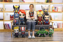 $enCountryForm.capitalKeyWord Australia - 1PCS New Cartoon The Avengers Pillow Super Heroes Spiderman Ironman Superman Plush Cushion & Stuffed for Kids or Friend Gift Toys
