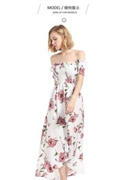 $enCountryForm.capitalKeyWord NZ - Women Short Sleeved Chiffon Long Length Printed Dress One Shoulder High Waist Design Popular Irregular Skirt Popular