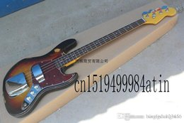 Left Handed Basses Australia - Free Shipping New Arrival Custom body Guitar Left handed JAZZ Bass 4 Strings Vintage Bass Electric Guitar