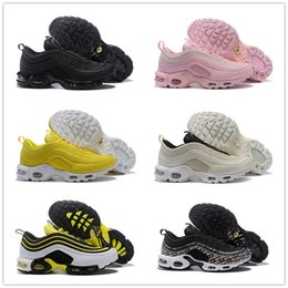 Shoes For Plus Sized Women Australia - 97 Plus TN running shoes 2019 new arrival hot sale high quality for men and women sneaker ,size us 5.5-12