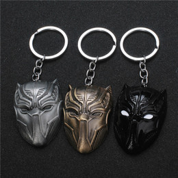 moon face mask 2019 - 17 styles Fashion Movie The Avengers 3 American Captain Civil War Metal Keychain Bronze Silver Black Panther Mask Men Wo