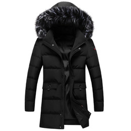 loose parka UK - -30 Degree Mens Winter Jackets and Coats Hooded Which Fur Collar Thick Long Loose Large Size Men Parka 130kg Can Wear M-8XL