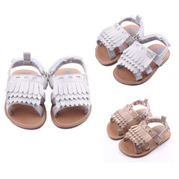 Sandals For Kids Canada - Summer Baby Shoes For Girls Toddler Infant Kids Baby Girls Solid Tassel Sole Crib Shoes Anti-slip Sandals Girls Shoes M8Y11