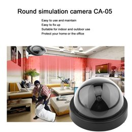 indoor dome camera fake Canada - newBlack Plastic Smart Indoor Outdoor Dummy Home Dome Fake CCTV Security Camera with Flashing Red LED Light CA-05 car dvr