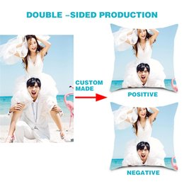pictures personal Australia - DOUBLE-SIDE Design Picture Personal Photo Wedding Photos Customize Gift Throw Pillowcase Home Cushion Cover DIY Pillow Cover