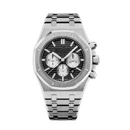 Chronograph 42mm online shopping - New Top Quality Luxury Men s Watch Stainless Steel mm VK Quartz Chronograph Movement Sports Men Business Sapphire Wristwatch