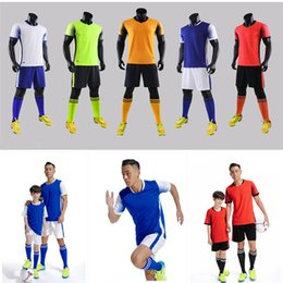Body Suits Adults Australia - Full-body customized football suit men's Jersey print of football training uniform for short-sleeved adult children's summer match