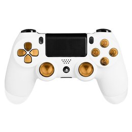 $enCountryForm.capitalKeyWord Australia - Metal Bullet Buttons ABXY Buttons + Thumbsticks Thumb Grip and Chrome D-pad for Sony PS4 DualShock 4 Controller Mod Kit