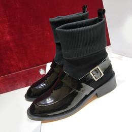 25c0dd5fa35 Glvency Martin Botines de moda para mujer Plataforma Señora Botines Zapatos  Motocicleta de cuero genuino Botas de nieve planas Francia Trend Zapatos de  ...