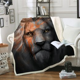 quilt bedspread king 2019 - BeddingOutlet Lion King Printed Velvet Plush Throw Blanket Bedspread for Kids Girls Sherpa Blanket Travel Couch Quilt DI