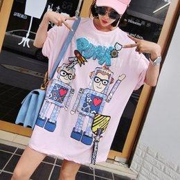 $enCountryForm.capitalKeyWord Australia - 2019 Print Sequinned Lace Blouse Pop Logo Loose Women Wearing New PUNR Letter Robot Pattern Long T-shirt wholesale