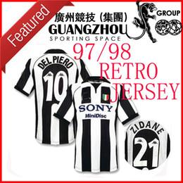 f206223b5c1 1997 1998 Juventus ZIDANE RETRO SOCCER JERSEYS DEL PIERO 97 98 JERSEY  INZAGHI 9 FOOTBALL SHIRTS