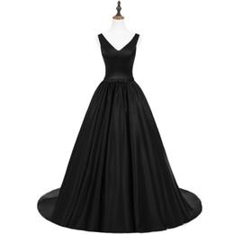 $enCountryForm.capitalKeyWord UK - Saudi Arabic Black Backless Long Prom Dresses 2018 Sexy Puffy Prom Evening Gowns Fashion V-neck Criss-Cross Formal Party Dress Vestido