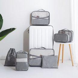 $enCountryForm.capitalKeyWord Canada - Travel Underwear Storage Bag set portable Folding Travel baggage Organizer bags colorful types Shoes Pouch Suitcase mesh sack QQA209
