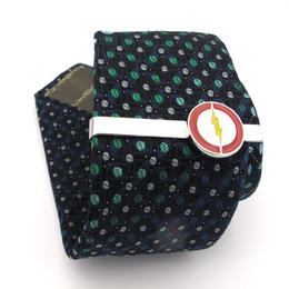 Опт iGame супергерои галстук клипы качество латунь материал Роман Флэш-галстук бар для мужчин Бесплатная доставка