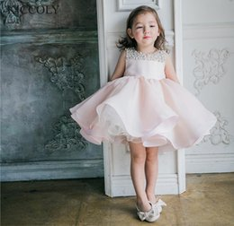 tulle ball gown layered wedding dresses 2020 - Baby Girl Christening Dresses For Baptism Wedding Beads Layered Tulle Newborn Party Wear Infant Princess 1 Year Birthday