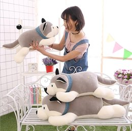 wholesale husky toys NZ - plush doll large pillow gift down cotton husky plush toy soft dog wholesale factory direct sales