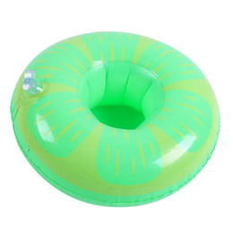 Toys Boats NZ - Party Supplies Flamigo Cup Holder Watermelon Inflatable Drink Floating Party Beverage Boats Phone Stand Holder Pool Toys DHL Free Shipping