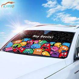 cartoon deck 2019 - KIPPO Car Sun Shade Windshield Sunshades Cartoon Double-deck Aluminum Foil Parasol Coche Parasol Coche Parabrisas Delant