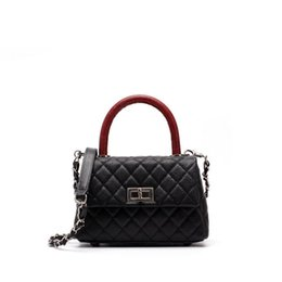 New 2019 Classic Women Diamond Lattice Small Tote Design Chic Cowhide Split  Leather Handbags Messenger Bags For Female An1024 0e8bb8231bcea