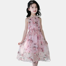 China Girls Dress Floral Summer Bohemia Beach New Dresses For Girls Long Kids Dresses Chiffon Teen Clothing For 4 6 8 14 Years cheap clothing for teens suppliers