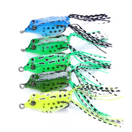 fishing soft plastic baits 2019 - Soft Tube Bait Plastic Fishing Lures Frog Lure Treble Hooks Mini Frog Lure Bait 5.5CM 8g Artificial Soft Bait ZZA277 che