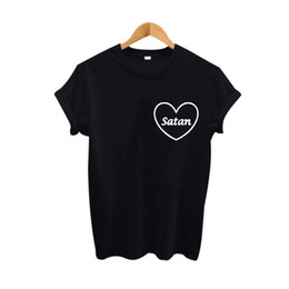 $enCountryForm.capitalKeyWord UK - Women's Tee Satan Ringer Harajuku Graphic T Shirt Women Tops Tumblr Hipster Female T-shirt Black White Summer 2019 Fashion Women Tees