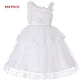 red tutu christmas NZ - Girls 4 to 14 years tutu lace flowers Rhinestone Summer dress, 6 colors to chosen, kids & teenager boutique party clothes, R1AAX808DS-12