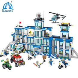 Brick Block City NZ - City Police Station Building Blocks Compatible LegoIN City helicopter motorcycle Bricks Boy Girl Children Friends Gifts